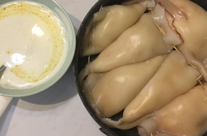 Рецепт фаршированные кальмары в мультиварке