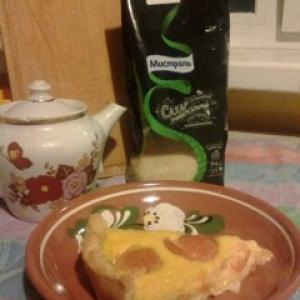 Абрикос - Абрикосовый пирог со сметанной заливкой