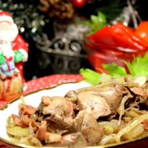 Печень - Ароматная куриная печень, запеченная в фольге
