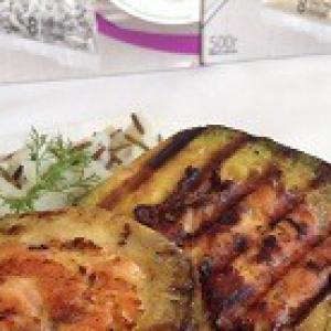 Лосось - Авокадо с лососем на гриле
