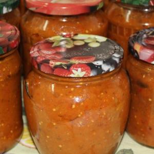 Рецепты украинской кухни - Баклажанная икра Бабусина