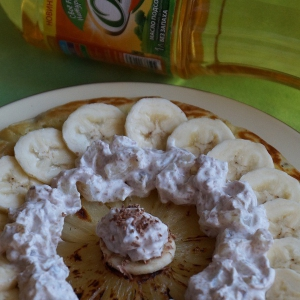 Банан - Банановые блинчики с ананасами