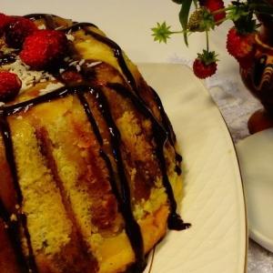 Земляника - Банановый десерт с диким рисом