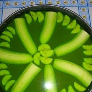 Киви - Банановый торт-желе