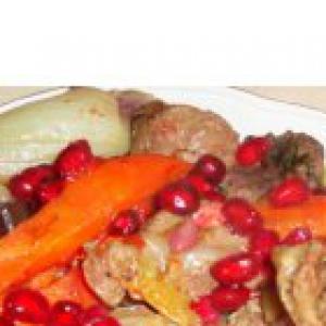 Гранат - Баранина, тушенная с овощами и гранатом