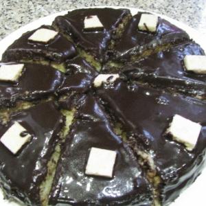 Ликер - Бисквитный торт в шоколадной глазури