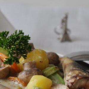 Рыба - Бланкет из белой рыбы с грибами