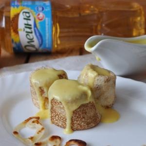 Мандарин - Блинчики с мандариново-миндальным соусом