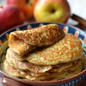 Яблоко - Блины дрожжевые яблочные