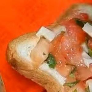 Хлеб - Брускетта с томатами и сыром