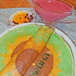Брусника - Брусничный соус к блинчикам Подсолнухи