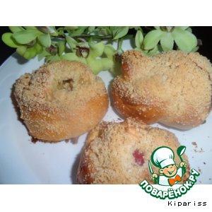 Фрукты - Булочки с ананасом и персиком