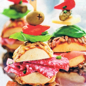 Бутерброды канапе елочка