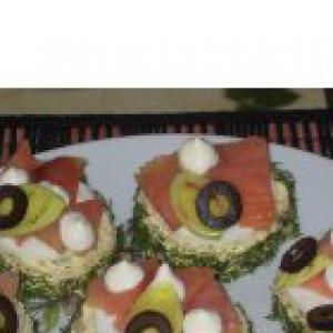 Горбуша - Бутерброды с горбушей