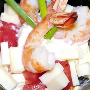 Креветки - Быстрый салат на завтрак