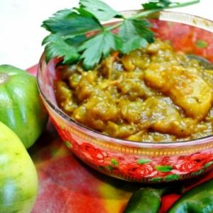 Рецепты индийской кухни - Чатни из зеленых помидоров