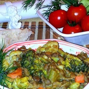 Рецепты из бобовых - Чечевица с овощами