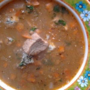 Чечевица - Чечевичный суп со свининой