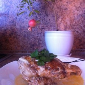 Рецепты кавказской кухни - Цыплёнок Чкмерули