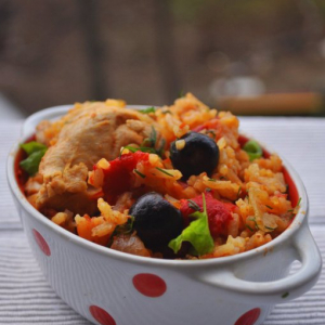 Рис - Цыпленок по-латиноамерикански