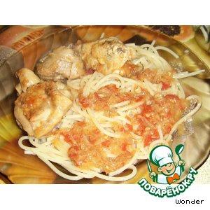 Острый перец - Цыпленок в томатно-луковом соусе