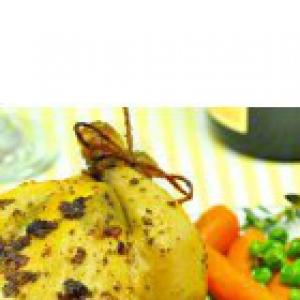 Шалфей - Цыплята в ароматном масле и гарнир из зеленого горошка с морковью
