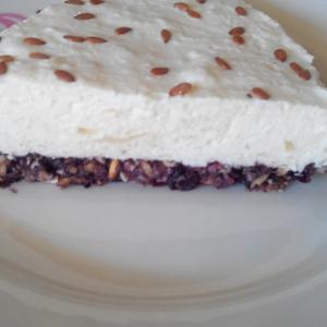 Йогурт - Диетический чизкейк с семенами льна