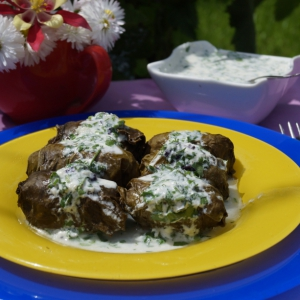 Мясные рецепты - Долма под соусом из мацони