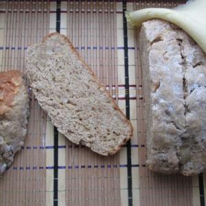 Кефир - Домашний хлеб с салом