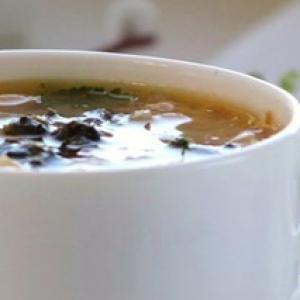 Рецепты супов - Домашний суп с белой фасолью