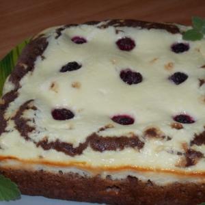 Ежевика - Двухслойный пирог с творогом и ежевикой