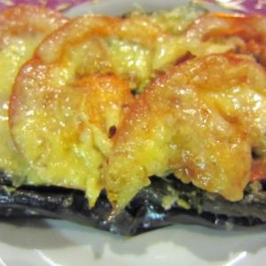 Овощные рецепты - Фаршированные баклажаны, запеченные под соусом