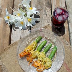 Хлеб - Фаршированные кабачковые цветы