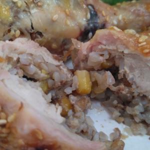 Кукуруза - Фаршированные куриные голени