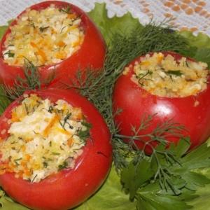 Морковь - Фаршированные помидоры