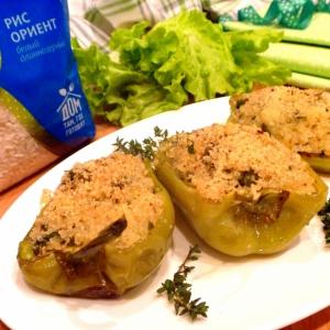 Пармезан - Фаршированный перец с зелеными овощами