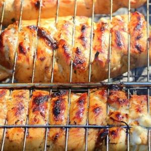 Блюда для пикника - Фаршированный шашлык из грудки
