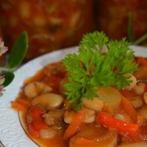 Фасоль - Фасоль с грибами по-домашнему