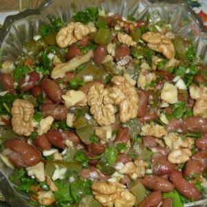 Рецепты белорусской кухни - Фасоль с солеными огурцами