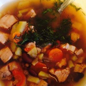 Индейка - Фасолевый суп почти диетический