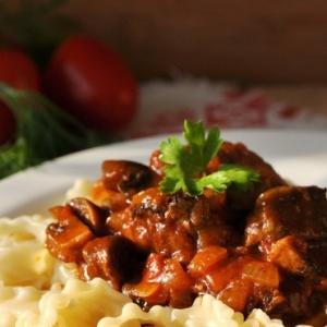 Рецепты итальянской кухни - Феттучини с печенью по-итальянски