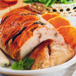 Рецепты из мяса птицы - Филе индейки с мандаринами и медом