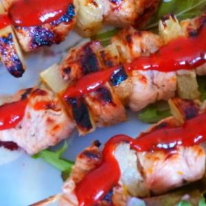 Киви - Филе индейки в фруктовом маринаде с соусом терияки