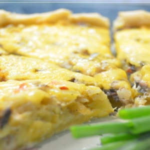 Кабачок - Французский пирог Киш Лорен