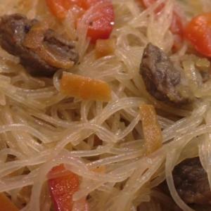 Говядина - Фунчоза с говядиной и овощами