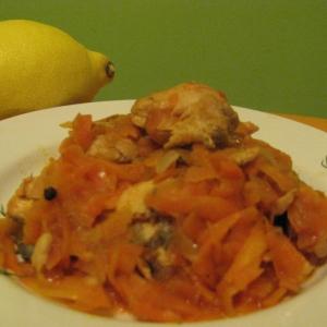 Горбуша под морковным маринадом