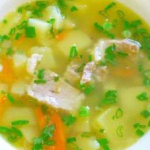 Рецепты супов - Гороховый суп со свининой