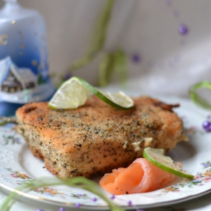 Лосось - Горячее Новогодний лосось