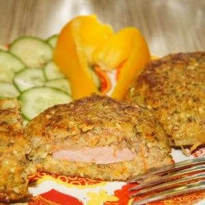 Колбаса - Гречаники с пророщенным машем и колбасой