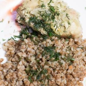 Рецепты белорусской кухни - Гречка и курица на пару по-разгильдяйски